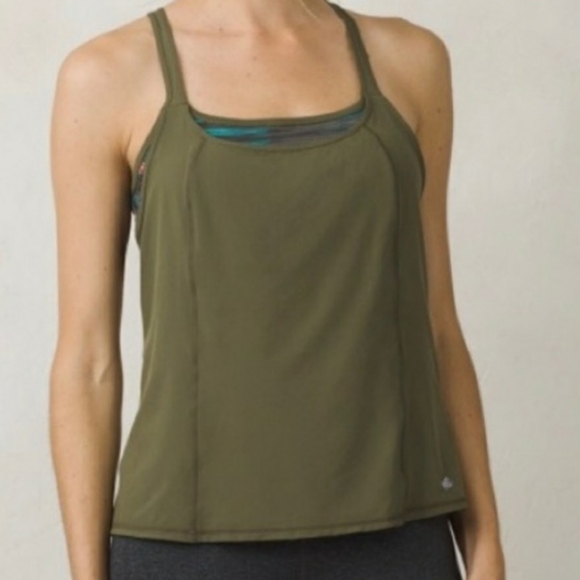 Prana Sway tank with built in bra size small